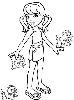 Polly Pocket Coloring Pages To Print  Polly Pocket Coloring Pages