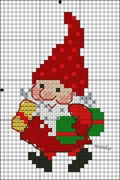 Santa Cross Stitch, Cross Stitch Cards, Cross Stitch Borders, Counted Cross Stitch Patterns, Cross Stitch Designs, Cross Stitching, Cross Stitch Embroidery, Christmas Embroidery Patterns, Cross Stitch Christmas Ornaments