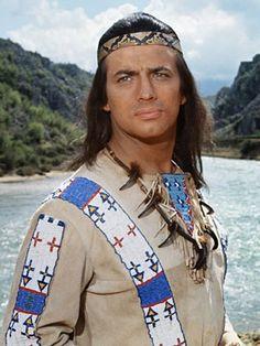 """Winnetou aka  Pierre Brice in the movie """"Der Ölprinz (Rampage at Apache Wells)"""", 1965"""