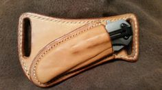 Cross draw Friction sheath for Browning pocket knife