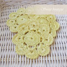Crochet flower appliques Set of 10 Wedding by MSweetboutique, $18.00
