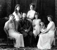 ZTAR NICHOLAS II, EMPEROR OF RUSSIA & his family THE ROMANOVS All MURDERED by the communists in 1917