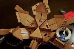 cardboard robots by Mike Estee