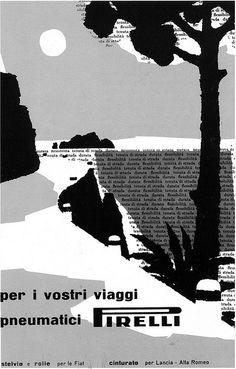 Franco Grignani - Pirelli ad, 1956   Flickr - Photo Sharing!