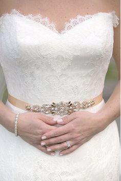 Rose Gold Crystal Bridal Belt SWAROVSKI от HelenaNoelleCouture