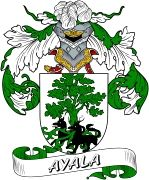 De Ayala Spanish Coat Of Arms from the website www.4crests.com #coatofarms #familycrest #familycrests #coatsofarms #heraldry #family #genealogy #familyreunion #names #history #medieval #codeofarms #familyshield #shield #crest #clan #badge #tattoo #crests #reunion #surname #genealogy #spain #spanish #shield #code #coat #of #arms