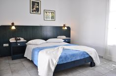 Welcome to Aloni Hotel in Paros Island Paros Island, Seaside Village, Bed, Room, Furniture, Home Decor, Bedroom, Decoration Home, Rum