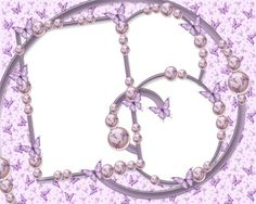 Purple Vintage Borders and Frames | Stylish Purple Butterfly Frames