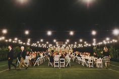 tennis court wedding reception