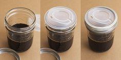 Cuppow Reusable Mason Jar Lid. Turn your mason jar into a slick to-go cup! $7.95 ball jars, balls, canning jars, drinking, mouth, coffee cups, mason jars, drinks, jar lids