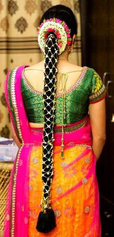 Pellipoolajada Telugu brides inspiration gallery | Pelli Poola Jada