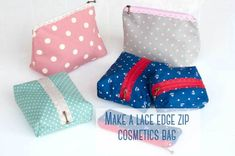 Picture TUTORIAL: Make a zipper pouch with an exposed lace zipper