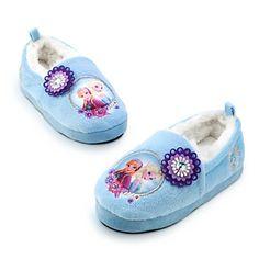 Disney Authentic - Frozen Elsa Anna Warm Winter Indoor Slippers Shoes For Girl's / Kids - Size UK 13 - 1 .... EU 32 - 33 Disney http://www.amazon.co.uk/dp/B00OBL5OGE/ref=cm_sw_r_pi_dp_MYkwub0WC825E