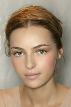 Love the rosy pink cheeks, and natural complexion.. Just perfect.