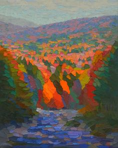 "Contemporary Painting - ""Ellis River"" (Original Art from Brian Kiernan)"
