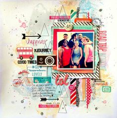 Creative Scrappers DT Project - Sketch #278 - American Crafts Shimelle collection.