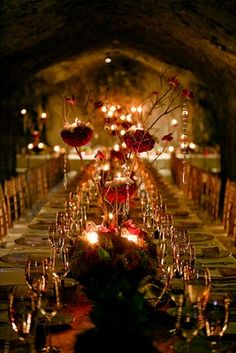 dramatic & romantic dinner party  Social House Dining for Valentines Day