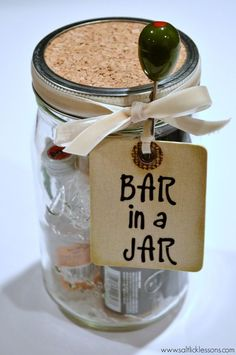Bar in a Jar is the perfect solution to a quick, fun and economical gift for any season or occasion. Base it on a theme and get creative!
