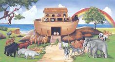 Wallsdecor Noah's Ark Wall Mural   Kids Wall Murals