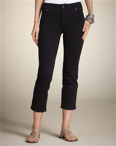 Love these black crop jeans from Chico's!