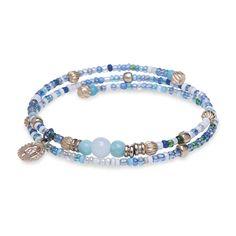 Pulsera bronce y cristal azul Beaded Bracelets, Jewelry, Women, Shopping, Fashion, Ring Bracelet, Carnelian, Moda, Jewlery