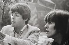 Paul McCartney and George Harrison Liverpool Legends, Richard Starkey, Just Good Friends, The Fab Four, Portraits, Hit Songs, Ringo Starr, George Harrison, Paul Mccartney