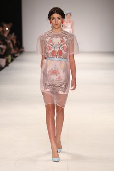 Alice McCall. 2012-13 Russian Nesting Doll inspiration. Sheer draping.