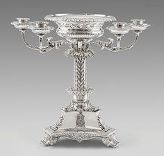 Paul Storr (Westminster 1771 - Tooting 1844) An Important Regency Candelabrum Centrepiece