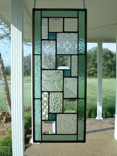 Stained Glass Panel Seafoam Green Window Transom by TheGlassShire  I just bought this piece and can't wait to get it!