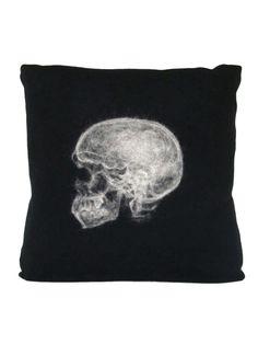 Skull Black & White Pillow