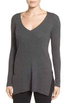 Vince Camuto Vince Camuto Ribbed V-Neck Sweater available at #Nordstrom