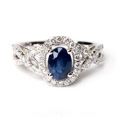 Oooh I like this one! Vintage sapphire ring.