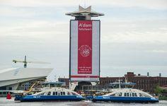 Amsterdam feliciteert Ajax met oude logo Amsterdam, Afc Ajax, Fifa Football, Places Worth Visiting, Golden Gate Bridge, Sports, Travel, Club, Logo