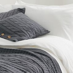 Cable knit bedding....Looks so cozy