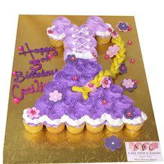 tangled cupcake cake - Google Search