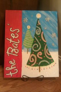 my first Christmas Canvas