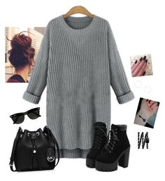 """""""Chilly Evening"""" by hanakdudley ❤ liked on Polyvore featuring MICHAEL Michael Kors, Ray-Ban, Chanel and Dorothy Perkins"""