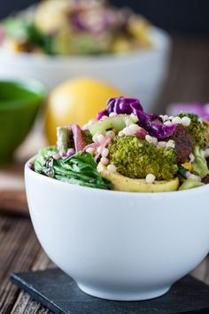 Warm bok-choi roasted veggie cous-cous salad | keepin it kind, via vedged out.