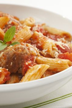 Made this tonight and it was delicious! Penne with Turkey Meatballs | KitchMe