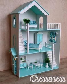 No photo description available. Barbie Furniture, Dollhouse Furniture, Kids Furniture, Doll House Crafts, Doll Home, Pink Dollhouse, Doll House Plans, Barbie Doll House, D House