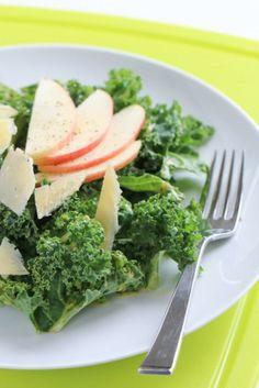 Kale Salad with Apple & Cheddar