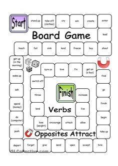 Board Game - Opposites Attract (Verbs)