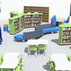Library Design Service School Library Displays, School Library Design, Elementary School Library, Home Library Design, Primary School, Elementary Schools, Architecture Symbols, Library Shelves, Shelving Systems
