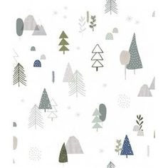 Tapeta Forest Lilipinso w kategorii Lilipinso / Tapety Tapeta Forest Lilipinso Forest Wallpaper, Kids Wallpaper, Pattern Wallpaper, Iphone Wallpaper, Cute Christmas Wallpaper, Christmas Background, Decoration Originale, High Quality Wallpapers, Surface Pattern Design