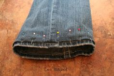 This is such a quick and easy  way to hem jeans! It is GREAT for kids jeans too....I'll show you at the end but the hem can be undone so w...