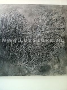 TITLE: BASIC UNDERGROUND 2012 SIZE : 150X150  MATERIAL : MIXED MEDIA ON CANVAS