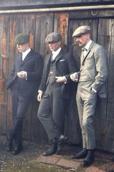 Peaky Blinders' Shelby Brothers, with a Dapper Looking Cillian Murphy in the middle ...and Paul Anderson