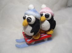 Penguins sledge - pdf crocheting pattern