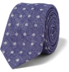 Alexander OlchPrinted Brushed Cotton-Twill Tie
