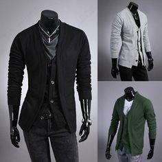 Discount China china wholesale All-match Men's Premium Slim Long-sleeved V-neck Cardigan Jacket Coats [31655] - US$26.24 : DealsChic